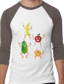 Happy Fruit Men's Baseball ¾ T-Shirt