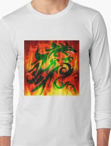DRAGON IN FLAME Long Sleeve T-Shirt