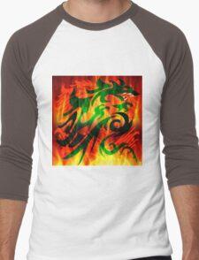 DRAGON IN FLAME Men's Baseball ¾ T-Shirt