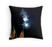 Fourth of July by the light of the moon Throw Pillow