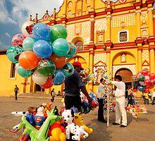 The Zocalo in San Cristobal de las Casas in Chiapas Mexico by Alex  Bramwell