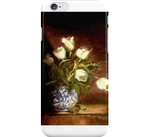 White Tulips In A Chinese Vase iPhone Case/Skin