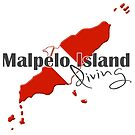 Malpelo Island Diving Diver Flag Map by surgedesigns