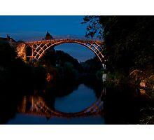 Ironbridge at night Photographic Print