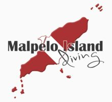 Malpelo Island Diving Diver Flag Map Kids Clothes