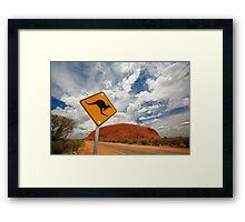 Uluru in Australia Framed Print
