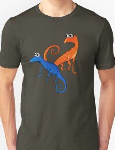 Orange and Blue Lizards T-Shirt