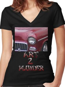 Classics 4-Red Women's Fitted V-Neck T-Shirt