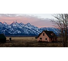 Peach House, Mormon Row, Tetons Photographic Print
