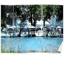 Sailboats At Belle Isle Poster