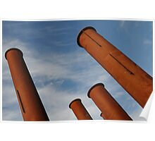 Rusty Pipes Poster