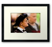 Old Lady in Costume Framed Print