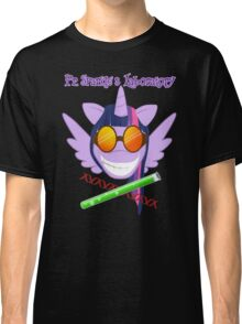 Pr. Sparkle's Laboratory - with text, black BG Classic T-Shirt