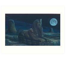 Moonlit Guardian Art Print