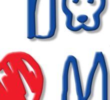 Pit Bulls Love Me (Light Colors) Sticker