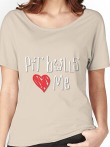Pit Bulls Love Me (Dark Colors) Women's Relaxed Fit T-Shirt