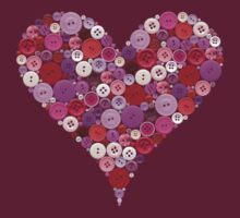 Heart buttons t-shirt by creativemonsoon