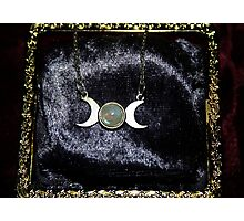Triple Moon Goddess Photographic Print