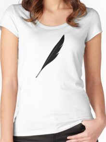 Riftwing's Feather Quill Women's Fitted Scoop T-Shirt