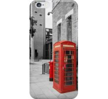 Red Telephone & Post Box iPhone Case/Skin