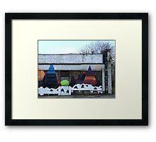 Peaks Framed Print