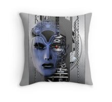 robot futures b throw pillow Throw Pillow