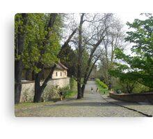 Way in the Prague castle Canvas Print