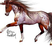Bay Sabino Paint by RaptorGirl