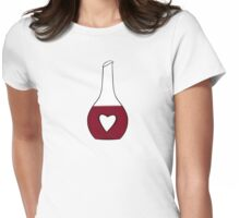 Heart Decanter (I heart red wine, White BG) Womens Fitted T-Shirt