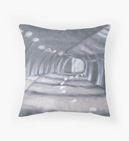 Walkway at Night Throw Pillow