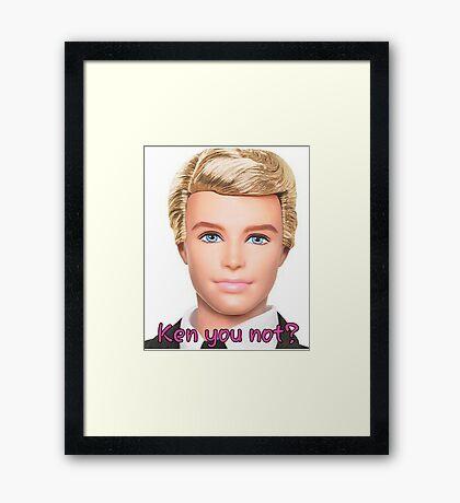 Ken Doll Framed Print