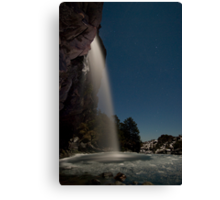 Taranaki Falls in the Freezing Night Canvas Print