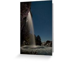 Taranaki Falls in the Freezing Night Greeting Card