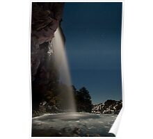 Taranaki Falls in the Freezing Night Poster
