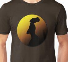 Arabica Jones - Silhouette/Gold and Brown Unisex T-Shirt