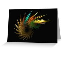 Feather Fan Dance Greeting Card