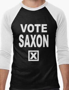 Vote Saxon [White Lettering] Men's Baseball ¾ T-Shirt
