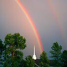 Church Under The Rainbow  by Daniela Weil