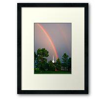Church Under The Rainbow  Framed Print