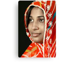 The Beauty in Sari Canvas Print