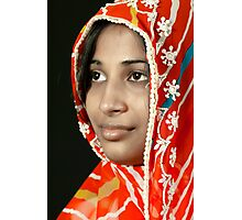 The Beauty in Sari Photographic Print