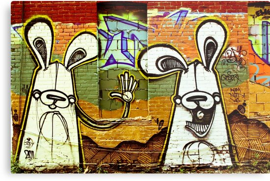 Graffiti Bunnies by Jason Dymock Photography