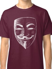 V for Vendetta (Inverted Colors) Classic T-Shirt