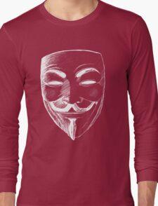 V for Vendetta (Inverted Colors) Long Sleeve T-Shirt
