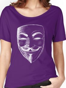 V for Vendetta (Inverted Colors) Women's Relaxed Fit T-Shirt