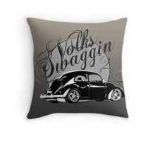 """Volks """"Swaggin"""" Beetle Throw Pillow"""