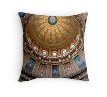 Capitol Dome (Lansing, Michigan) Throw Pillow