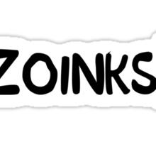 Zoinks (Black) Sticker