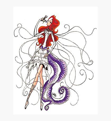 Lilac Euphoria & Black Beads Photographic Print
