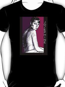 Josephine Baker Portrait in plum pink T-Shirt